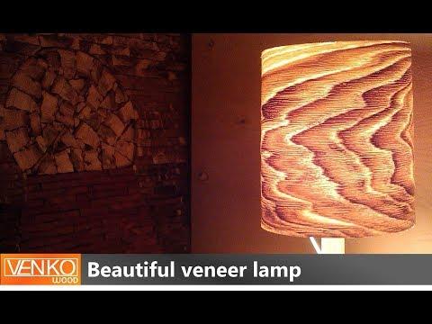 Beautiful veneer lamp