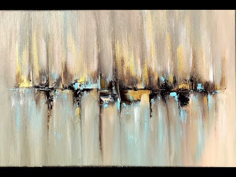 Skyline, abstract painting with Acrylic, abstract art, acrylpainting, abstrakte Malerei mit Acryl