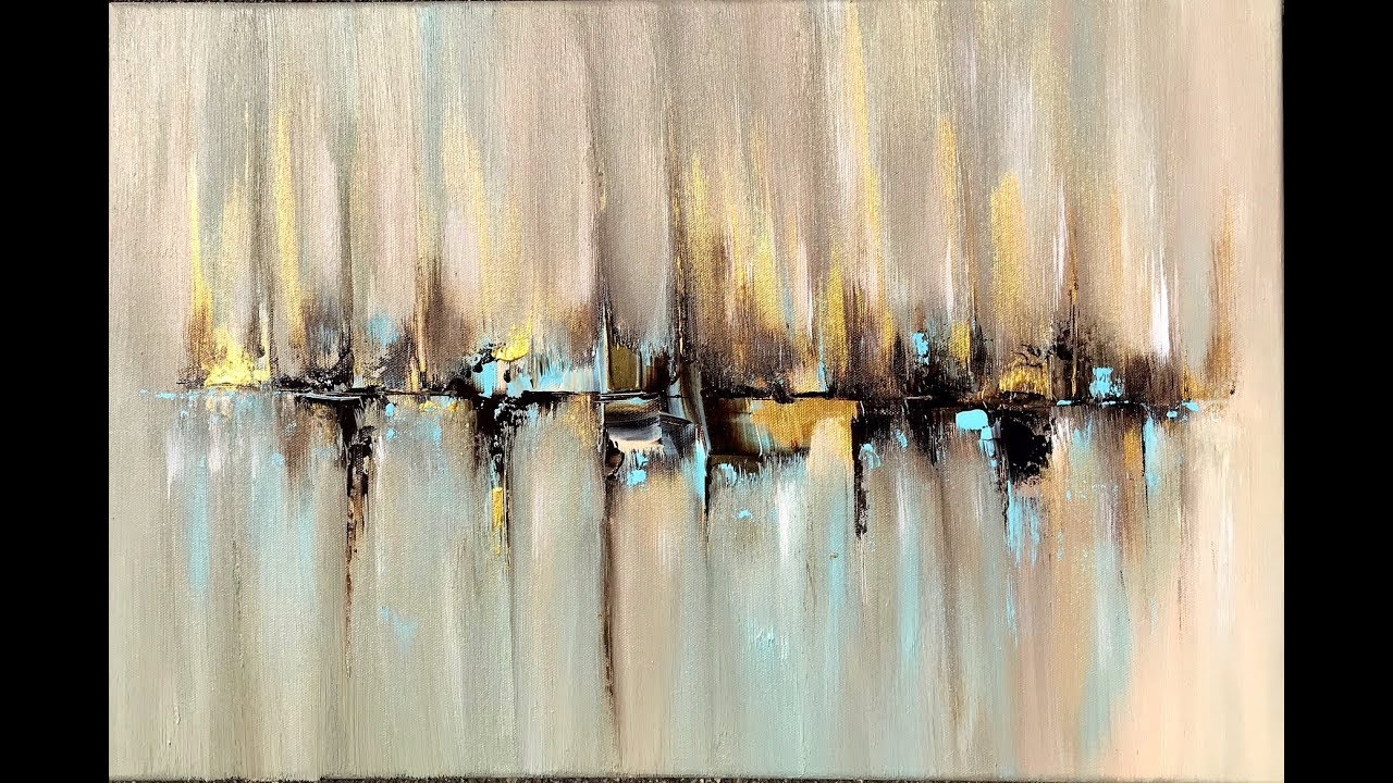 Skyline Abstract Painting With Acrylic Abstract Art Acrylpainting