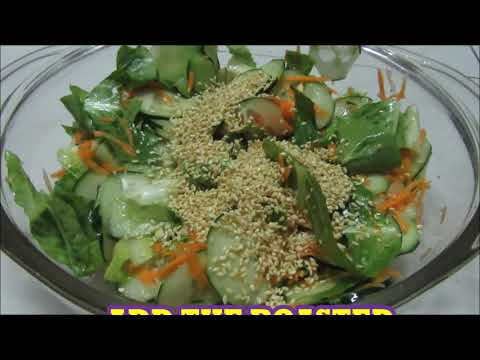 Lettuce Cuber Carrot Vegetable Salad With Sesame Seeds Pinays Easy Recipe Youtube