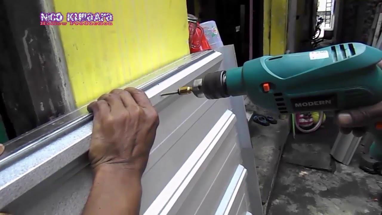 pondasi kanopi baja ringan membuat di tempat yang sempit part 2 end