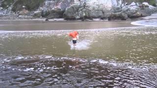 Gunta crossing BlouKrans river at Low tide