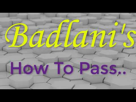 How To Pass : Series # 4