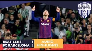 Real Betis 1 - 4 FC Barcelona: el hat trick de Messi en Carrusel