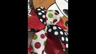 How to make a bow for your door hanger with Tamara Bennett