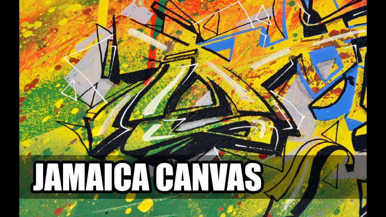 R Graffiti Letters JAMAICA GRAFFITI CANVA...