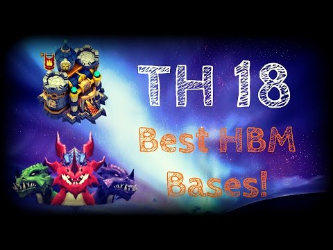 Castle Clash; TH18 Best HBM Bases!
