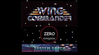 Wing 0 - Wing Commander minigame on System Shock PC