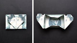 My Money BOX WITH HEART   Origami Dollar Tutorial DIY by NProkuda