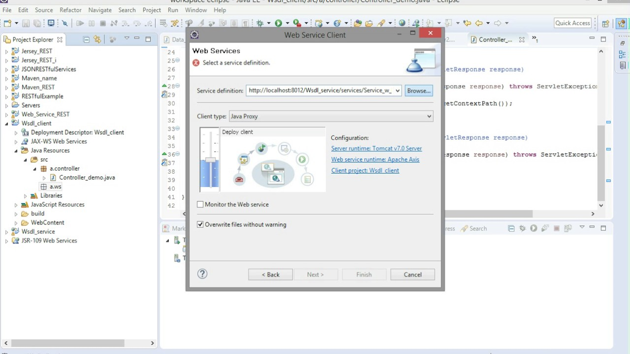 Create Web Service And Web Client Service On Eclipse