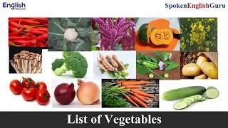 English में सभी सब्जियों के नाम । Vegetable Names in English | Spoken English Guru