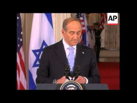 Israeli PM meets Bush at White House, joint presser