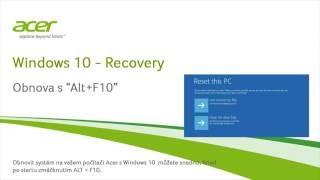 Windows 10 – Recovery Obnova s Alt+F10