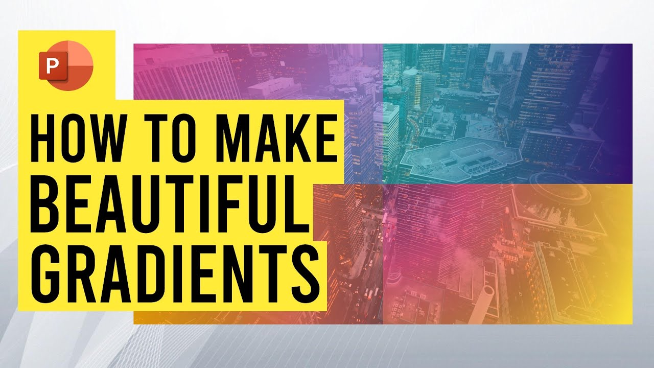 How to design beautiful gradients in PowerPoint