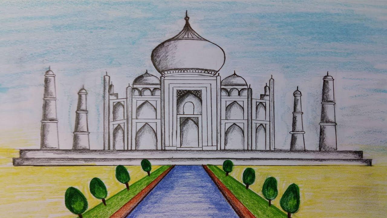 how to draw taj mahalstep by stepeasy draw