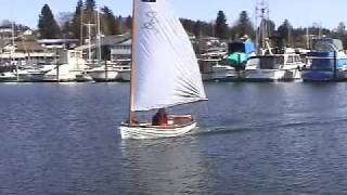 Kaiser Sailing In His Minto Dinghy