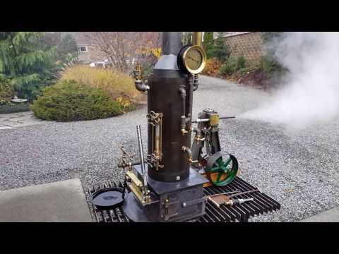 Live Steam Boiler with Steam Engine gauge whistle