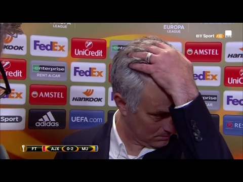 Classic Jose! Mourinho's full interview after Manchester United win the Europa League
