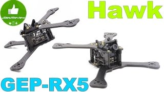 ✔ Нестандартная Рама для Гоночного Квадрокоптера - GEPRC GEP-RX5 Hawk. Banggood