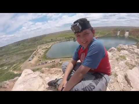 Jr conquering hill at Lake Meredith...Gopro hero+