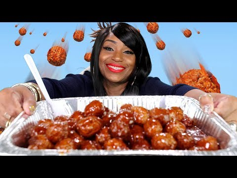 100 MEATBALL MARCH MADNESS CHALLENGE  with Carolina Reaper and BBQ Sauce