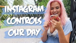 Instagram controls our day/followers control our day, podcast update (Taller Girlfriend Couple Vlog)
