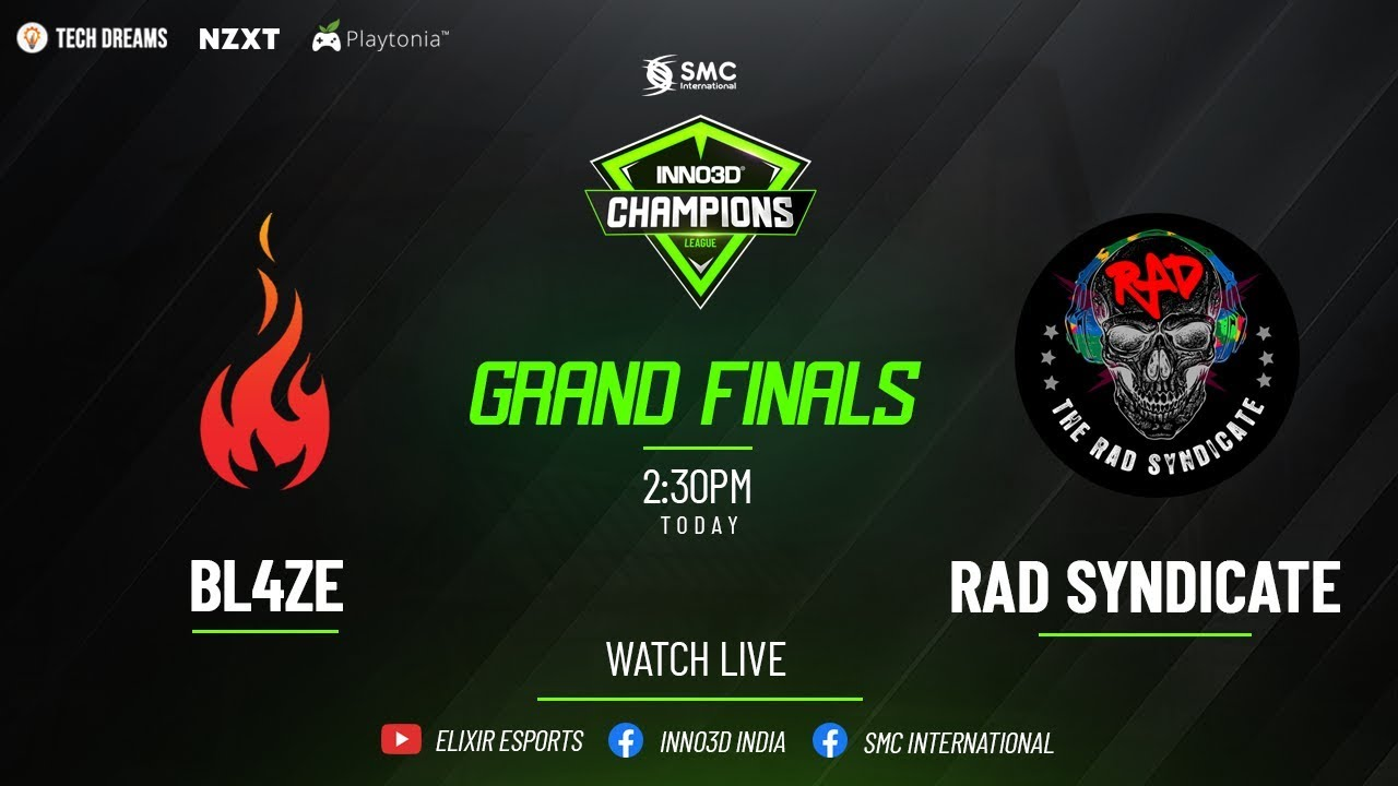 BL4ZE eSports v/s TheRADSyndicate | INNO3D Champions League | Grand Finals
