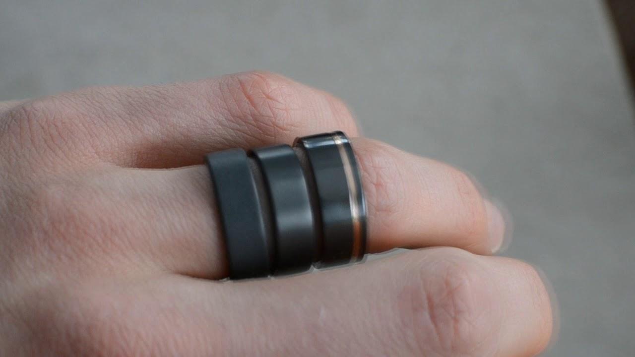 Mens Black Wedding Rings Matte To Polished Youtube