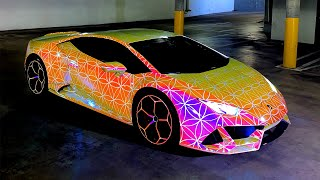 Glowing Lamborghini Huracan, 2 Accidents with expensive cars fixed.