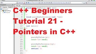 C++ tutorial for beginners 21 - pointers in c++