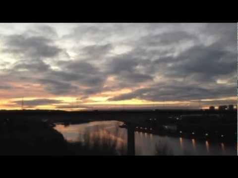 Crossing King Edward VII Rail Bridge, Newcastle-Upon-Tyne, UK - 29th November, 2012
