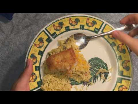 ASMR : Calvert eating Alaska Pollock Fish Fillets with Rice