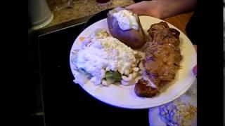 New York Strip Steak with Cheddar Cheese & Mushroom Gravy