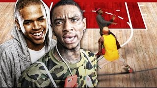 Soulja Boy Vs Chris Brown MyPark Celebrity 1v1 Rematch | Ugly Jumpshot & ANKLES BUCKLED | NBA 2k17