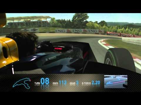F1 Track Simulator - Mark Webber at Spa
