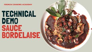 Learn how to make an authentic Bordelaise sauce with this video