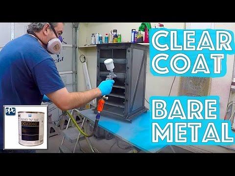 Clear Coat over Bare Metal - 4 easy steps - PPG DCU 2060 Flexed N Flat Matte Satin Clear Coat