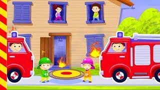 Пожарная машина для малышей. Машинки детям. Пожарные машинки Мультик про пажарных для детей машинки