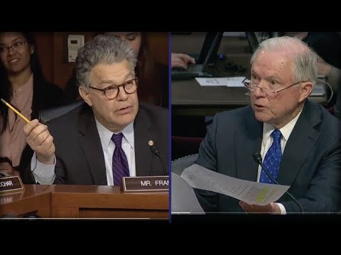 JEFF SESSIONS JUST PULLED OUT THIS PAPER ON SENATE FLOOR AND MADE AL FRANKEN SHIVER IN FEAR