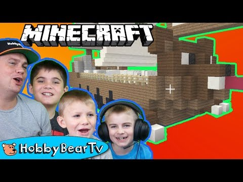 Minecraft Bear Pirateship Built with HobbyBear