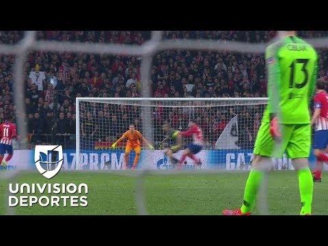 Morata hizo el 1-0 del Atlético con la mano sobre Chiellini y el VAR lo anuló