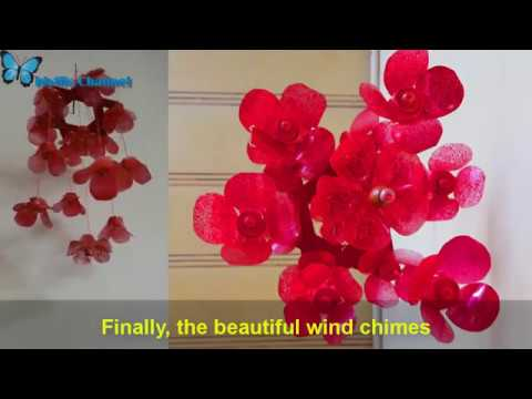 How to make wind chimes from recycled plastics  simple handmade  DIY room