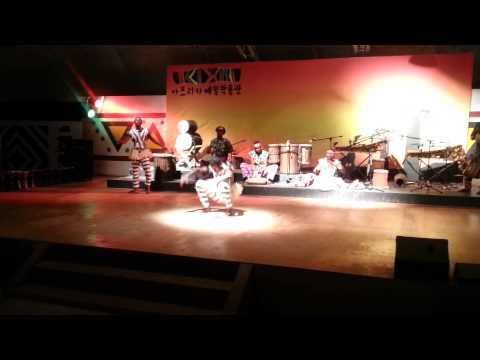 African dancing at African Cultural Center in Korea Part 2