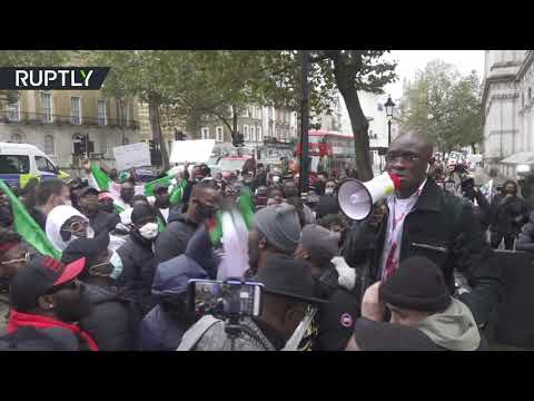 London rally against police brutality in Nigeria