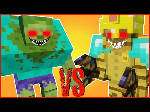 Minecraft - MOB BATTLE TEAM | MUTANT ZOMBIE VS THE EVIL MUMMY (MUTANT CREATURES VS BETTER DUNGEONS)