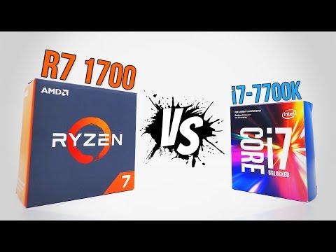 RYZEN R7 1700 vs i7-7700K   Benchmarks