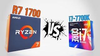 ryzen r7 1700 vs i7 7700k   benchmarks