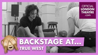 Kit Harington and Johnny Flynn in rehearsal for True West