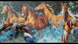 Dimensions 35214 Galloping Horses (Бегущие лошади)1/3 работы (слайд шоу)