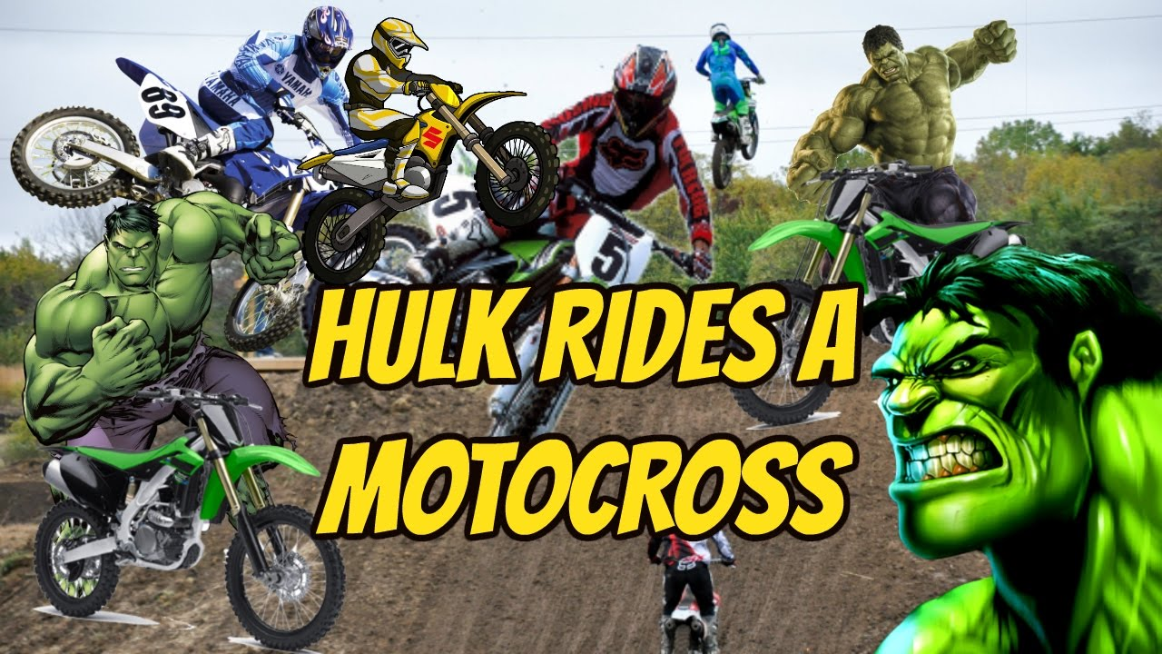 Hulk Rides a Crossbike!   Hulk's Motorcycle   Cartoon for ...